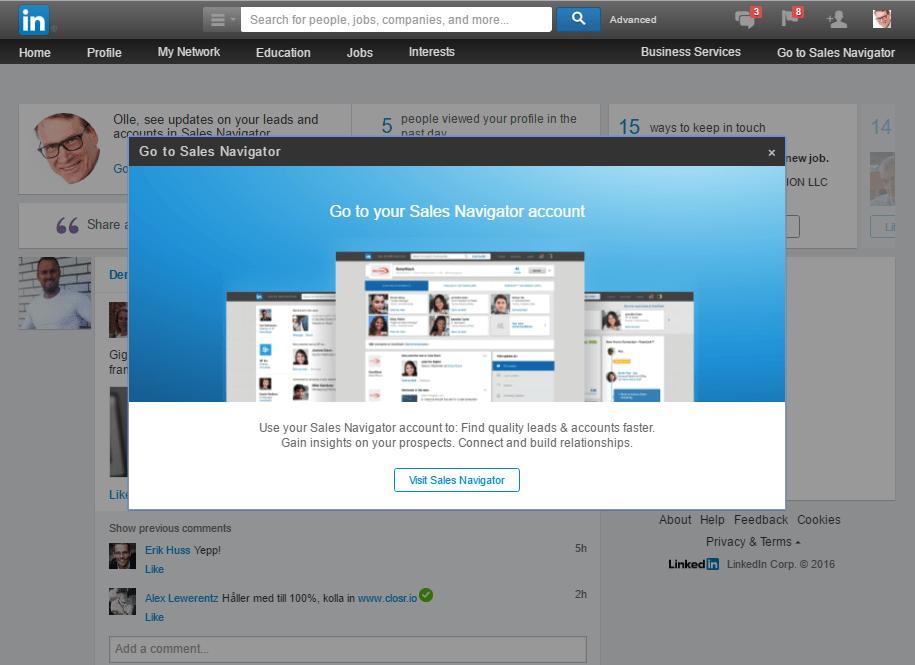 Försäljning med LinkedIn Sales Navigator