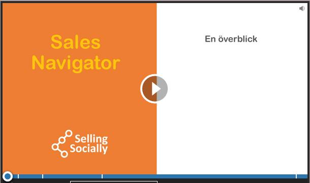 Social selling Sales navigator