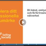 Social selling etablera ditt professionella varumärke