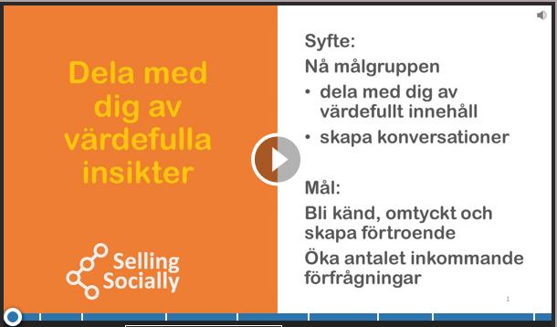 Social selling Engagera med insikt