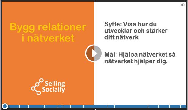 Social selling Bygg relationer i nätverket