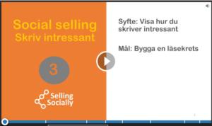 Social selling skriv intressant