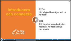 Social selling introducera och connecta